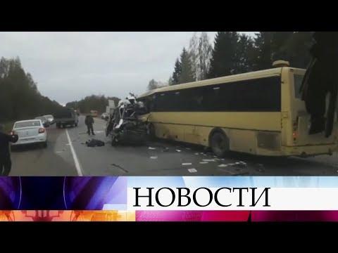 В Тверской области столкнулись пассажирский автобус и маршрутка.