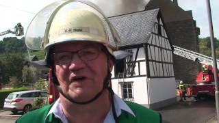 Großbrand in Burgen