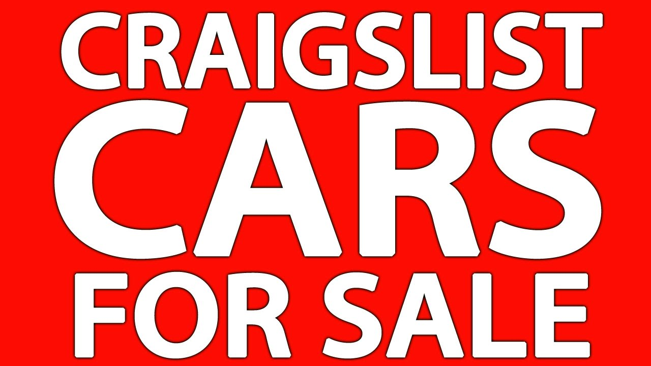 Craigslist Cars For Sale By Owner Youtube