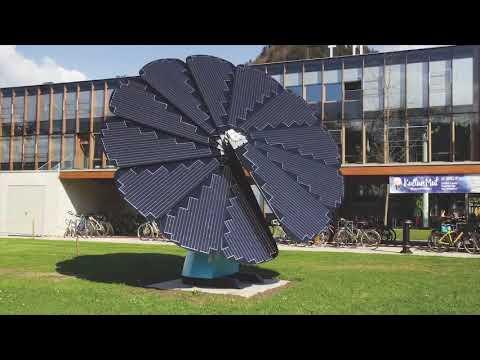 Panel solar que busca el sol