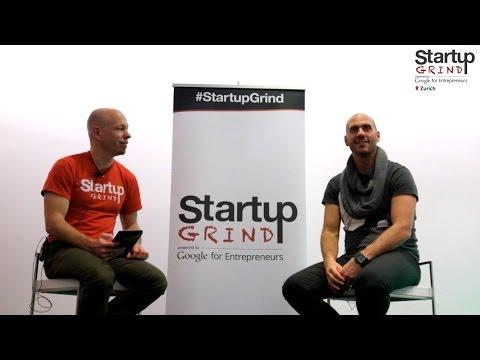 Ralph Rimet (Smartie.ch) at Startup Grind Zurich, w/ David Butler