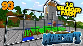 How To Minecraft | #93 | How To Make A Minecraft 1.8 Villager Farm! | (How To Minecraft SMP)