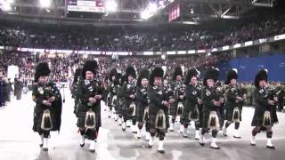North Saskatchewan Regiment Pipes and Drums March Past