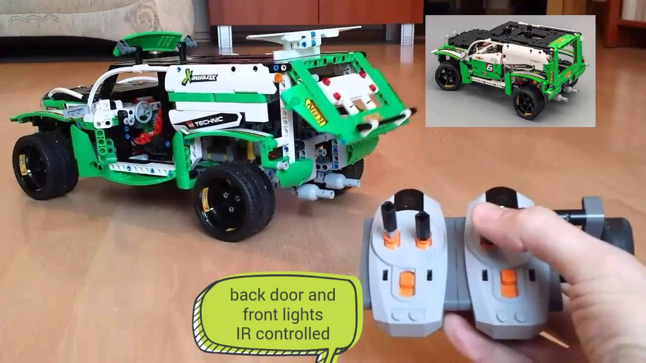 LEGO Technic 42039 SUV Racer IR mod power functions - YouTube