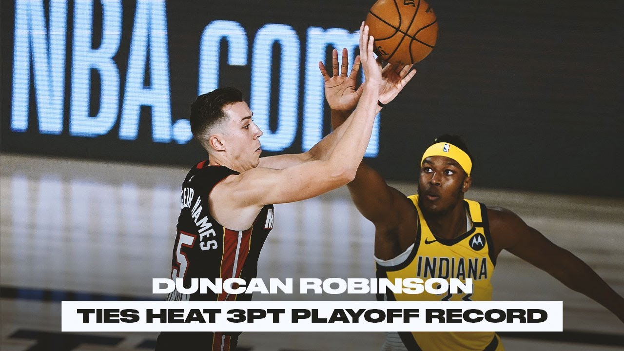 Heat's Duncan Robinson makes 3-point history in Game 2 win ...