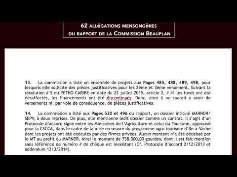 62 Allegations Mensongères du Rapport de la Commission Beauplan