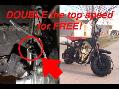 FREE mini bike mod!! (for Monster Moto/Motovox 80cc) + future project ideas and upcoming videos.