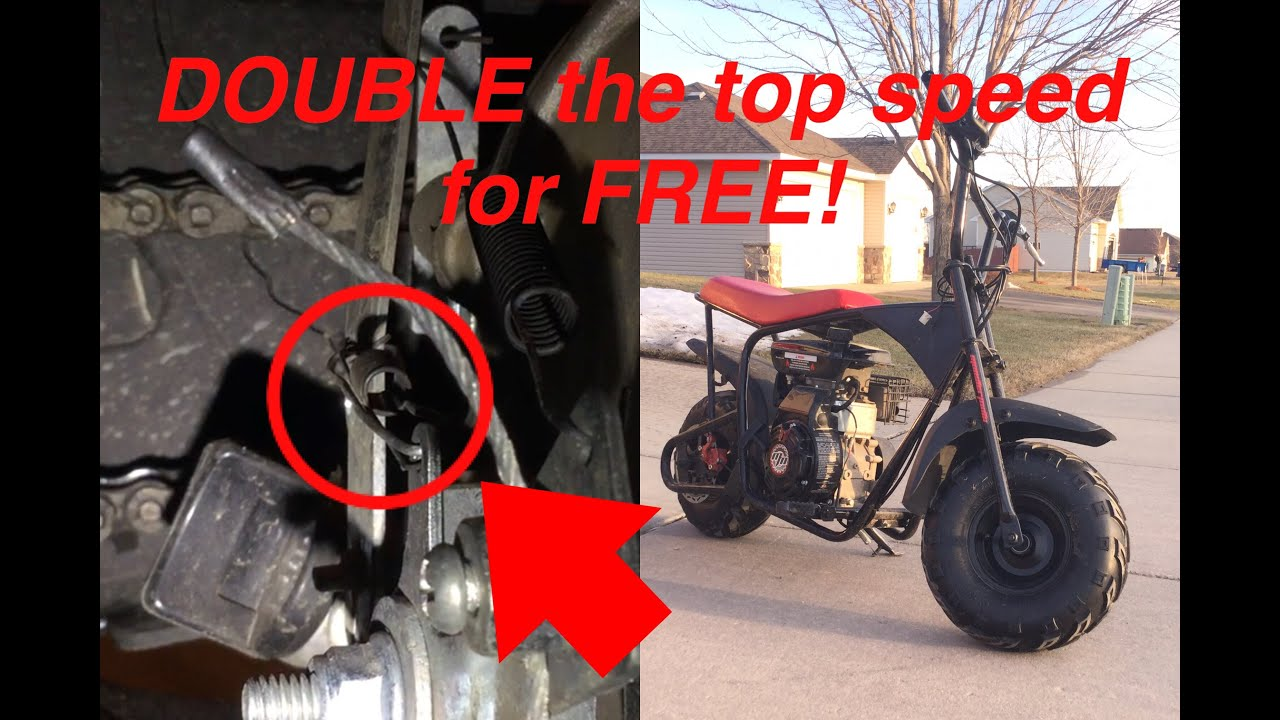 FREE mini bike mod!! (for Monster Moto/Motovox 80cc) + future project ideas  and upcoming videos