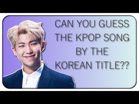 GUESS THE KPOP SONG BY THE KOREAN TITLE [Hard/With Romanization]