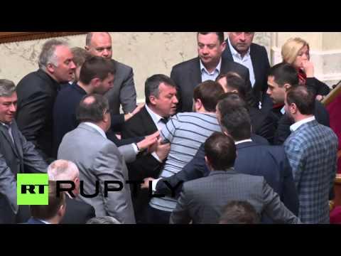 Ukraine: Scuffle breaks out in the Verkhovna Rada