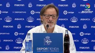 Rueda de prensa de  Juan Antonio Anquela tras el RC Deportivo vs Real Oviedo (3-2)