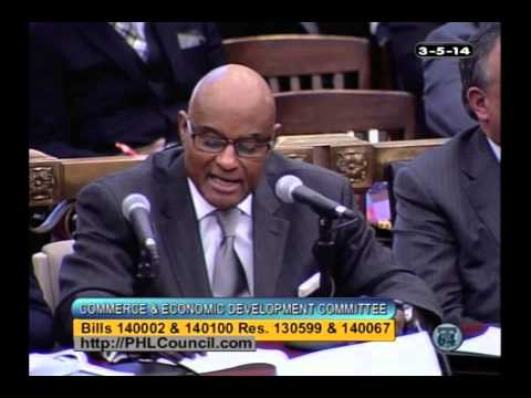 March 5, 2014: Philadelphia Commerce & Economic Development Committee Hearing