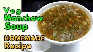 Veg Manchow Soup / How to make Veg Manchow soup at home / Chinese soup recipe - monikazz kitchen