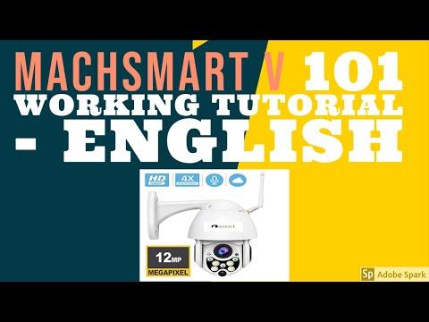 MACHSMART V 101 HD WI FI IP CAMERA WORKING TUTORIAL ENGLISH