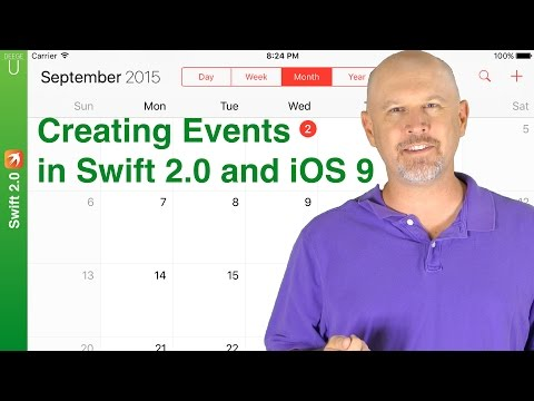 How To Create Events In IOS 9 And Swift 2.0