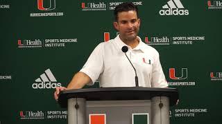 Manny Diaz Postgame Presser   Miami vs. Georgia Tech   10.19.19