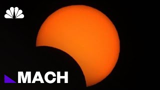 Watch Total Solar Eclipse Over South America In 1 Minute | Mach | NBC News