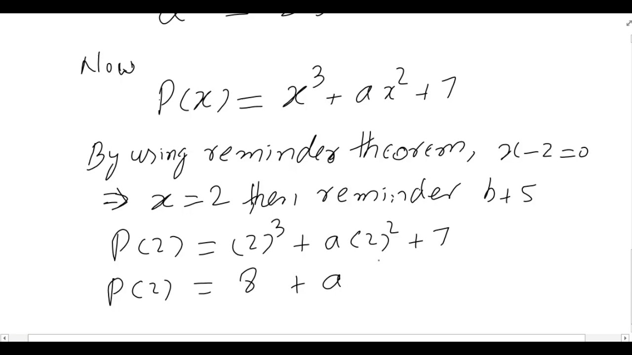 remainder theorem questions 1 Polynomial remainder theorem and practice problems on the remainder theorem  maths marks-wise questions  (1) 2 + 1 + 1= 2 by the remainder theorem,.