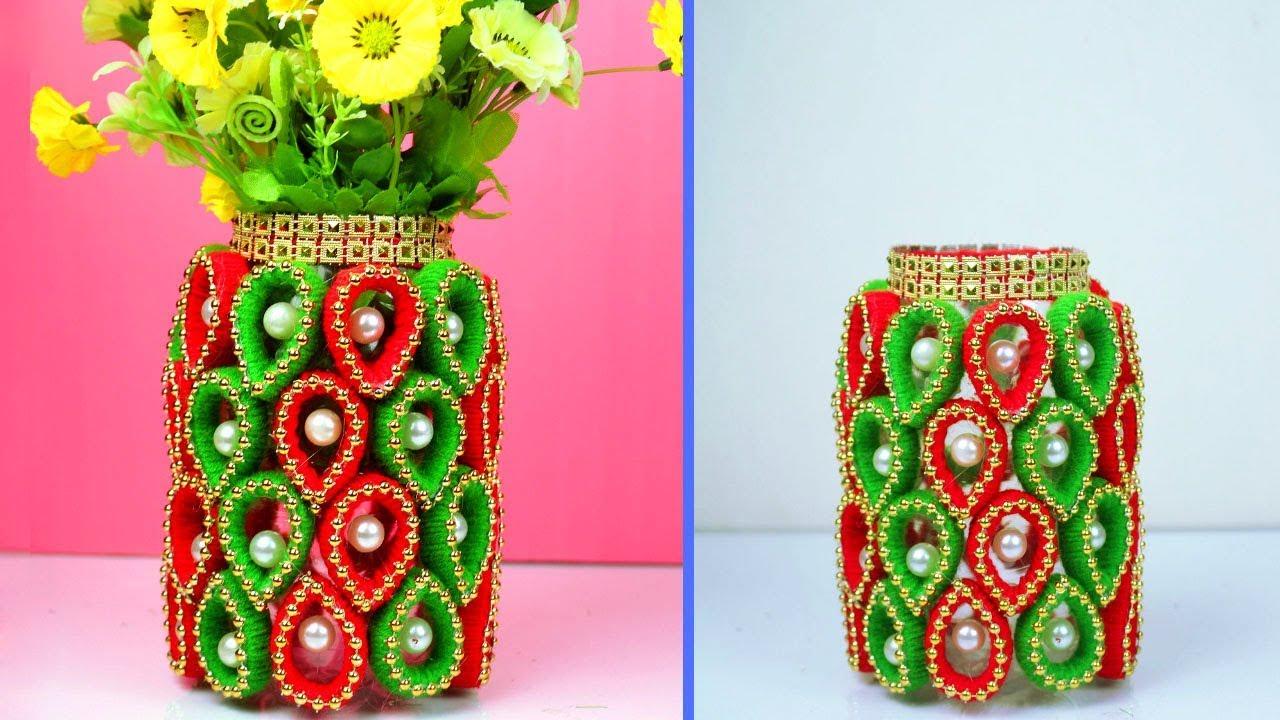 Diy Flower Vase Ideas Wonderful Ways To Decorate Your Home With Flower Vase Youtube