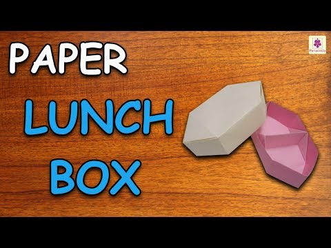 Learn How To Make Lunch Box Using Paper | Origami For Kids | Periwinkle