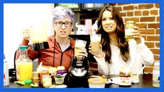 GROSS SMOOTHIE CHALLENGE (ft. Ingrid MissGlamorazzi) | Tyler Oakley