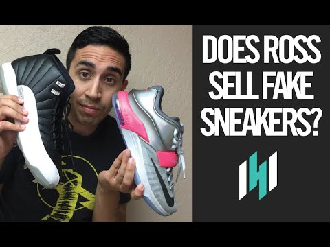 dc78b454b71c Does Ross Sell Fake Sneakers  - YouTube