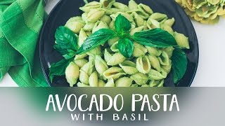 Avocado pasta with basil