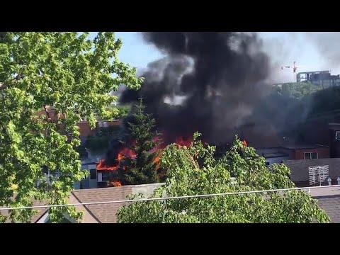 Raw Video: Little Portugal fire