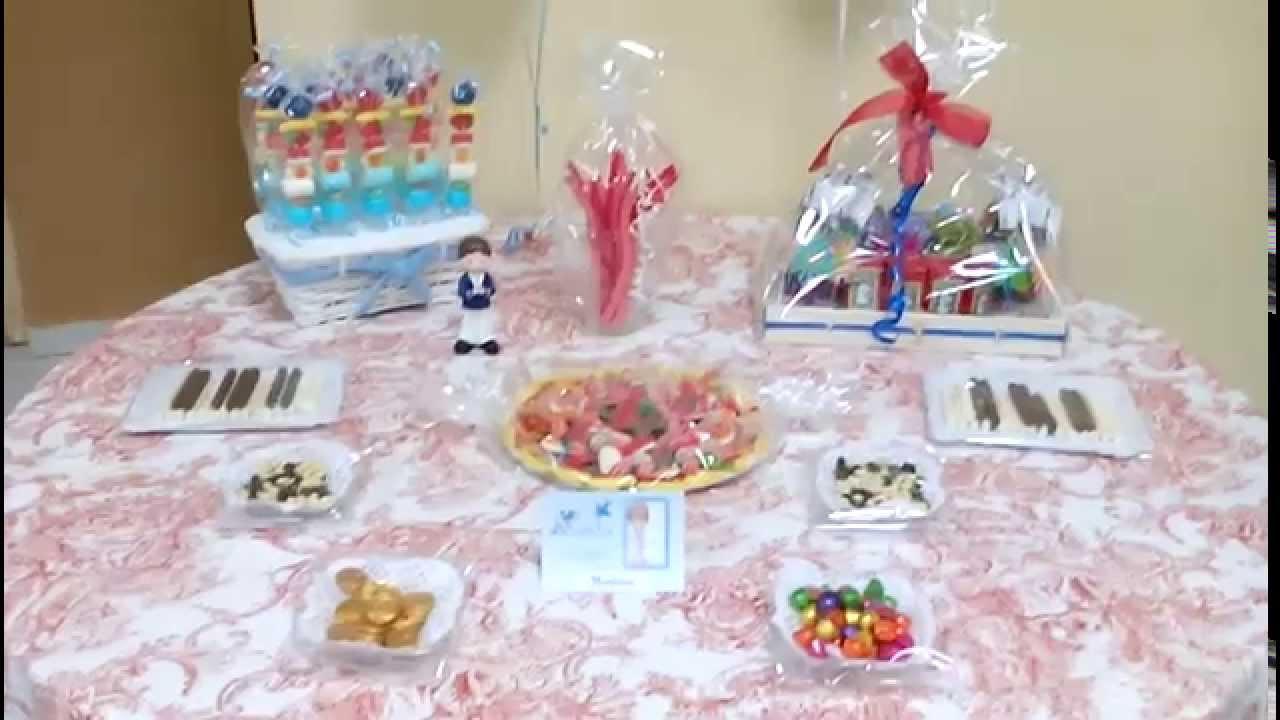 Regala ilusiones 2014 decoraci n globos y mesa chuches comuni n norberto youtube - Ideas para decorar mesas de chuches ...