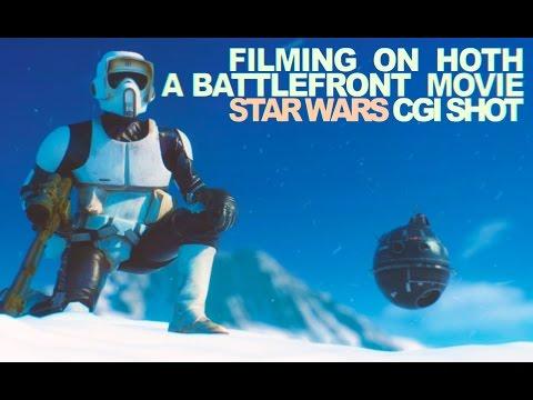 Filming on Hoth a Battlefront movie - Star Wars CGI shot