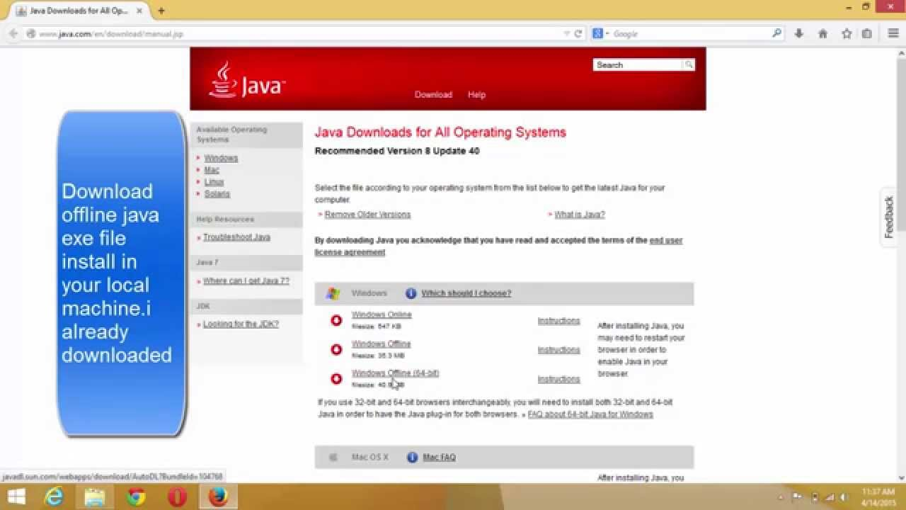Extracting Java.MSI from Java.EXE for group policy deployment - YouTube