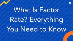 What is a Factor Rate?