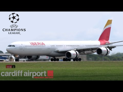 UEFA Champions League 2017 - Charters arriving and departing Cardiff! 3/6/17