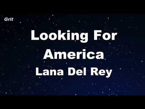 Looking For America - Lana Del Rey Karaoke 【No Guide Melody】 Instrumental