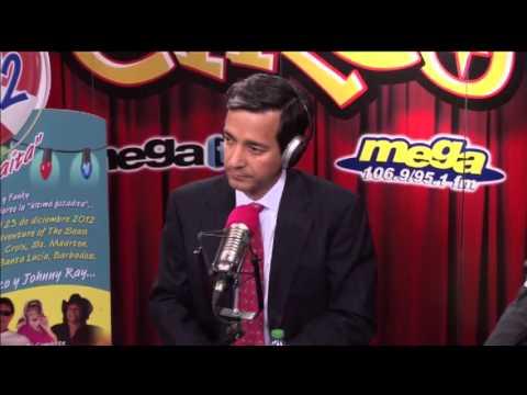 Luis Fortuño en El Circo de La Mega 9/10/12  Parte 1