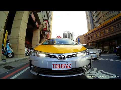 台中 大都會計程車 TDB-8762 惡意逼車、未打方向燈、佔據機車停等區、未保持安全距離