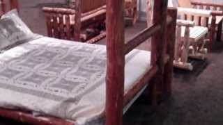 Rustic Log Bunk Bed - Amish Pine Log By Montana Woodworks