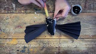 Halloween Hanging Bats - Halloween crafts for kids