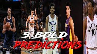 5 bold predictions for this nba season!