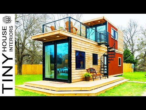Amazing Stunning The Helm Two-Story Container Home | Tiny House Interiors