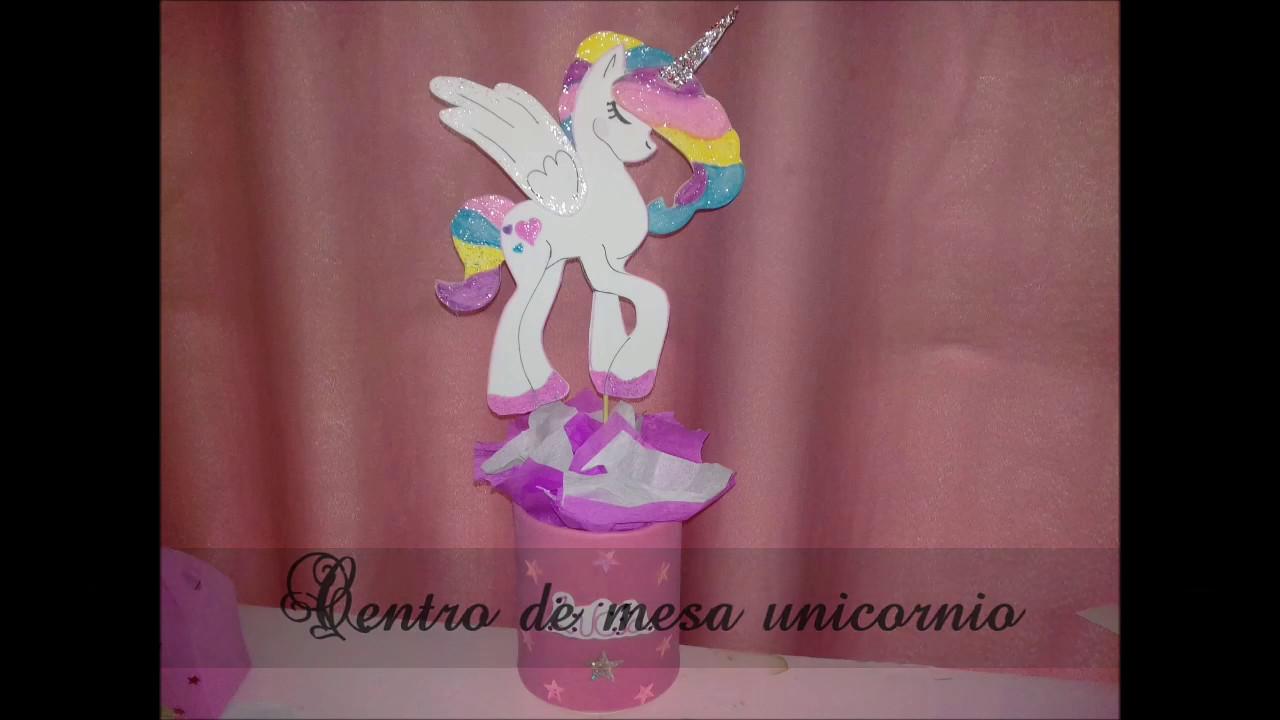Centro de mesa unicornio youtube - Mesa centro de cristal ...