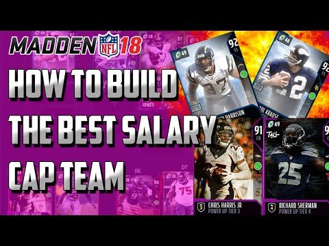 Madden 18 HOW TO BUILD THE BEST SALARY CAP LINEUP!! | BEST 750 CAP SALARY CAP LINEUP TEAM BUILD!!