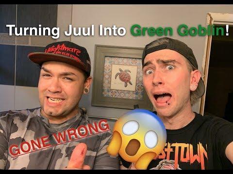 TURNING MY JUUL INTO THE GREEN GOBLIN... GONE WRONG (Halloween DIY Tutorial) thumbnail