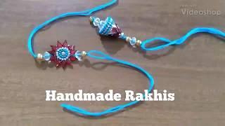 DIY | Handmade Rakhis | Easy Handmade Rakhis | For Bhai And Bhabhi