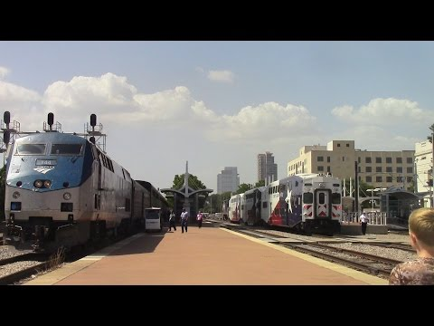 Railfaning Dallas, TRE,DART feat TRE Cabride 7-14-15
