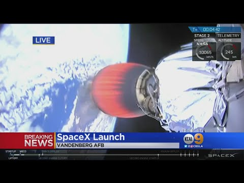SpaceX Launches Several Satellites On Falcon 9 Rocket From Vandenberg