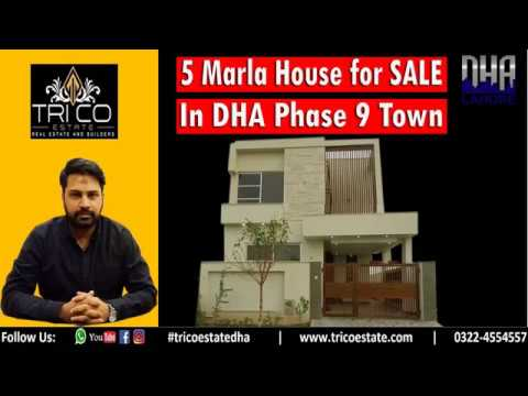 Designer 5 Marla House For Sale|  Front Elevation| Defence Housing Authority| 9 Town DHA|LAHORE