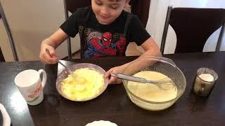 Рецепт вафли со сгущенкой в электровафельнице.