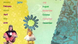 Learning French - French For Kids - Learn the Months & Basic Words in French