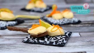 🍊Orangen Mousse🍊🥄 auf Löffel Keksen/von Lieblingsgeschmack